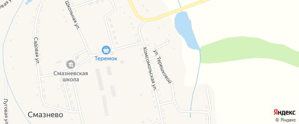 Комсомольская улица на карте станции Смазнево с номерами домов