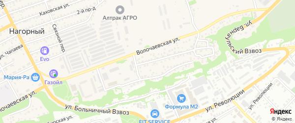 Улица Гора Больничного взвоза на карте Бийска с номерами домов