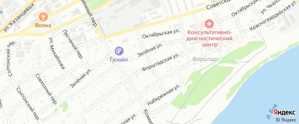 Переулок Большевик на карте Бийска с номерами домов