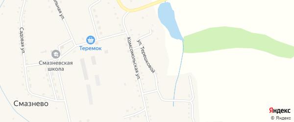 Улица Терешковой на карте станции Смазнево с номерами домов