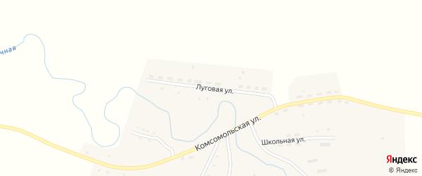Луговая улица на карте Первомайского села с номерами домов