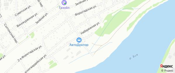 Мельничная улица на карте Бийска с номерами домов