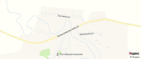 Комсомольская улица на карте Первомайского села с номерами домов
