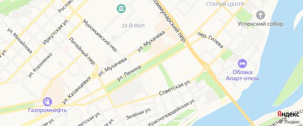 Карта садового некоммерческого товарищества Междуречья города Бийска в Алтайском крае с улицами и номерами домов