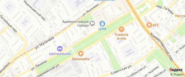 Переулок Вячеслава Токарева на карте Бийска с номерами домов