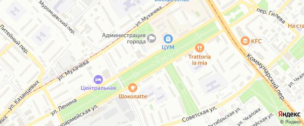 Переулок Ефрема Николенко на карте Бийска с номерами домов