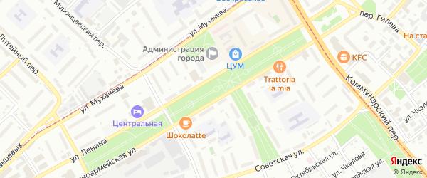 Ягодная улица на карте садового некоммерческого товарищества Просвещенца с номерами домов