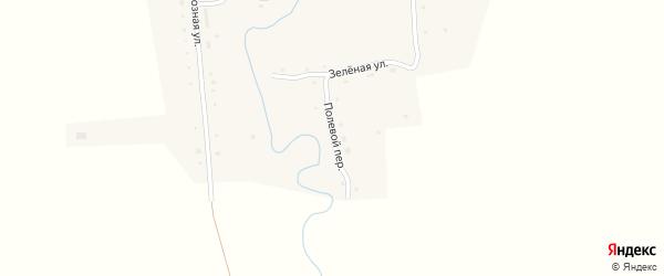 Полевой переулок на карте Первомайского села с номерами домов