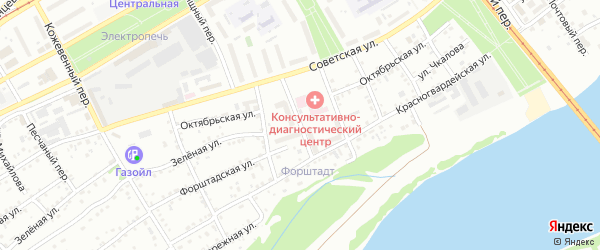 Заячий переулок на карте Бийска с номерами домов
