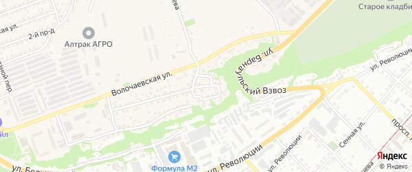 Дорожная улица на карте Бийска с номерами домов