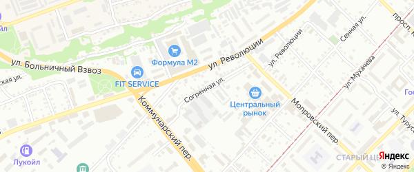 Согренная улица на карте Бийска с номерами домов