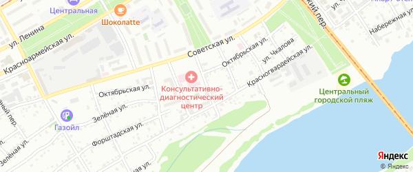 Барабинский переулок на карте Бийска с номерами домов