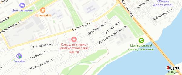 Глухой переулок на карте Бийска с номерами домов