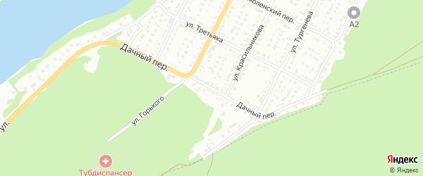 Дачный переулок на карте Бийска с номерами домов
