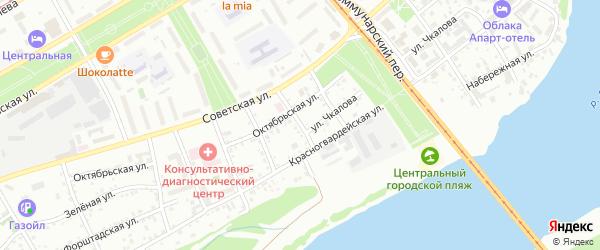 Табачный переулок на карте Бийска с номерами домов