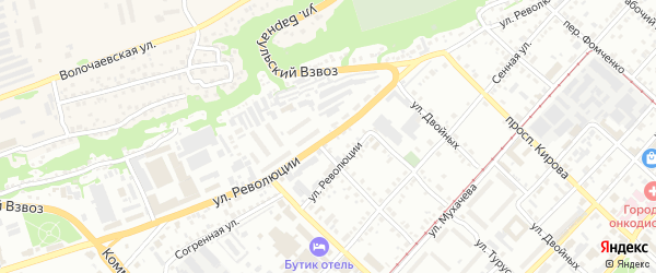 Улица Революции на карте Бийска с номерами домов