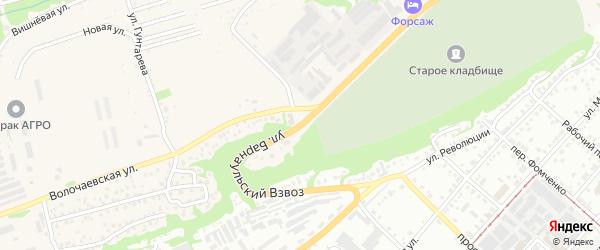 Улица Барнаульский ров на карте Бийска с номерами домов