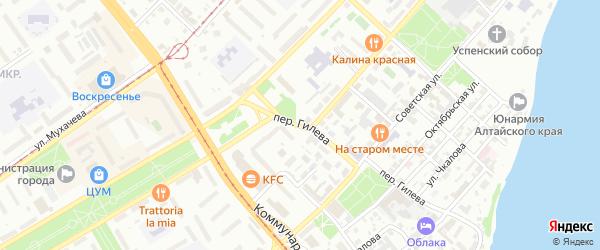 Переулок Романа Гилёва на карте Бийска с номерами домов