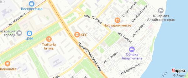 Озерная улица на карте Бийска с номерами домов