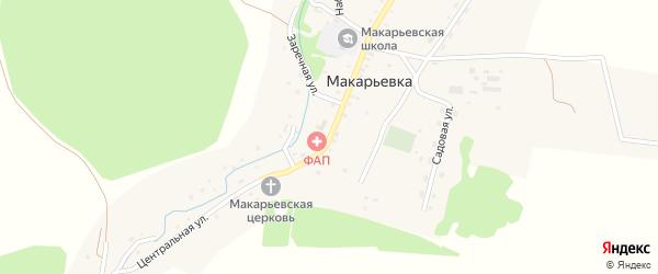 Центральная улица на карте села Макарьевки с номерами домов