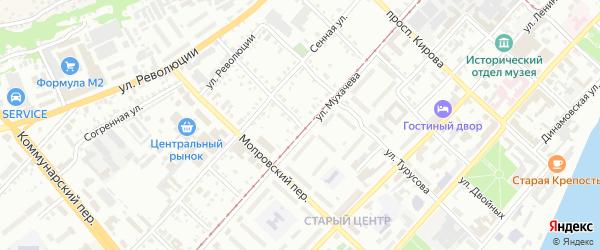 Телеграфный переулок на карте Бийска с номерами домов