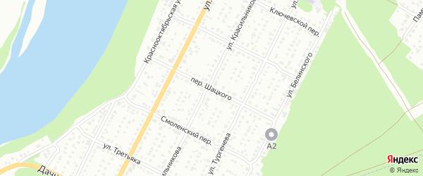Переулок Георгия Шацкого на карте Бийска с номерами домов