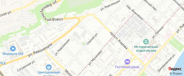 Сенная улица на карте Бийска с номерами домов