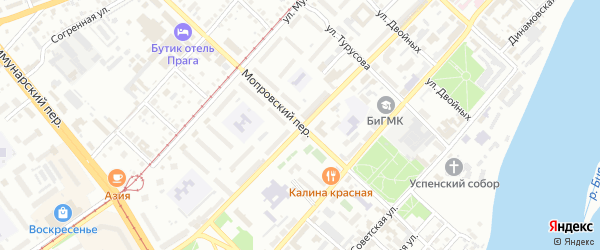 Мопровский переулок на карте Бийска с номерами домов