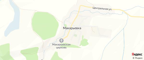 Карта села Макарьевки в Алтайском крае с улицами и номерами домов