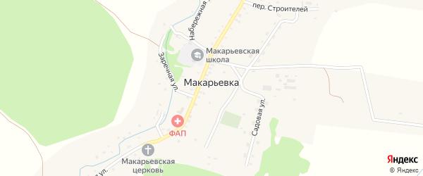 Переулок Строителей на карте села Макарьевки с номерами домов