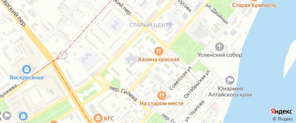 Переулок Моисея Урицкого на карте Бийска с номерами домов