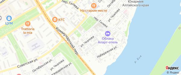 Улица Василия Чкалова на карте Бийска с номерами домов