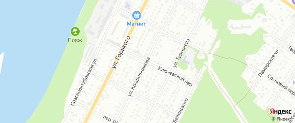 Ключевской переулок на карте Бийска с номерами домов