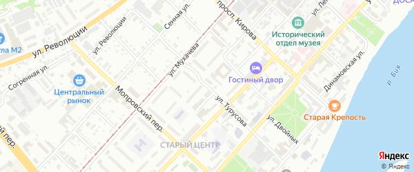 Улица Ивана Турусова на карте Бийска с номерами домов