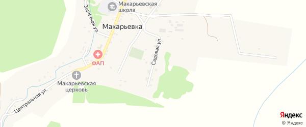 Садовая улица на карте села Макарьевки с номерами домов