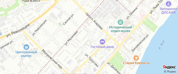 Улица Захара Двойных на карте Бийска с номерами домов