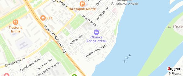 Театральный переулок на карте Бийска с номерами домов