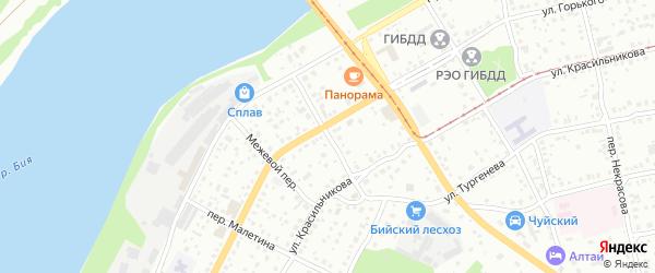 Переулок Николы Сакко и Бартоломео Ванцетти на карте Бийска с номерами домов