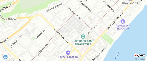 Переулок 3 Интернационала на карте Бийска с номерами домов