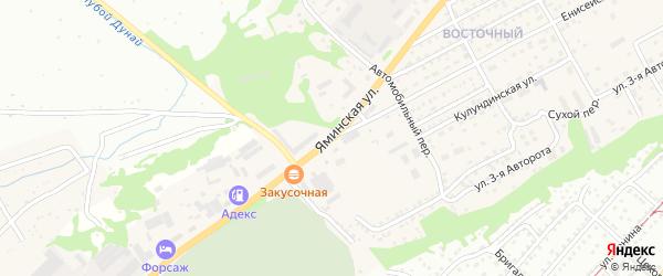 Яминская улица на карте Бийска с номерами домов