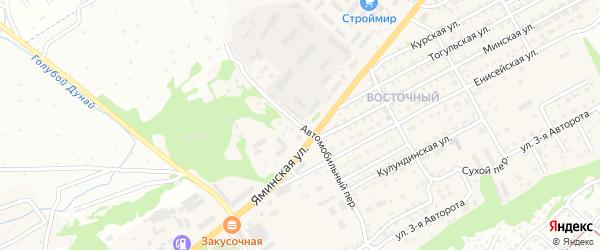 Автомобильный переулок на карте Бийска с номерами домов