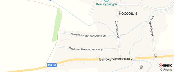 Нижняя Новопольская улица на карте села Россоши с номерами домов