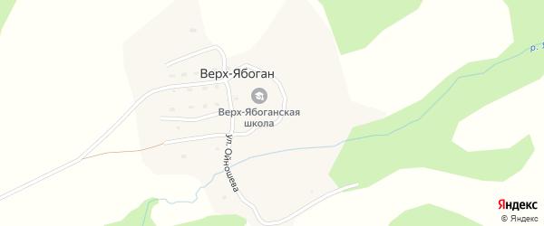 Нагорная улица на карте села Верха-Ябогана с номерами домов