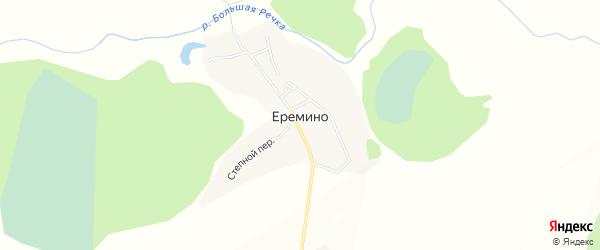 Карта села Еремино в Алтайском крае с улицами и номерами домов