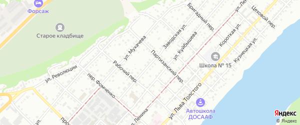 Заводская улица на карте Бийска с номерами домов