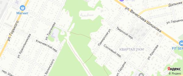 Сосновый переулок на карте Бийска с номерами домов