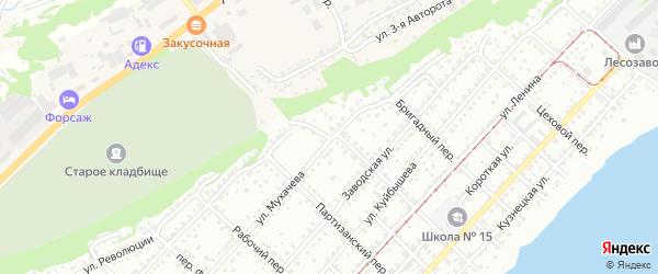 Кузнечный переулок на карте Бийска с номерами домов