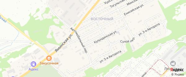 Малая улица на карте Бийска с номерами домов