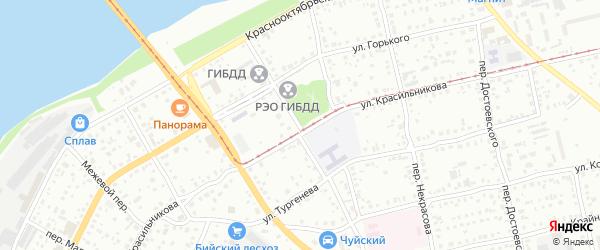 Перевозный переулок на карте Бийска с номерами домов