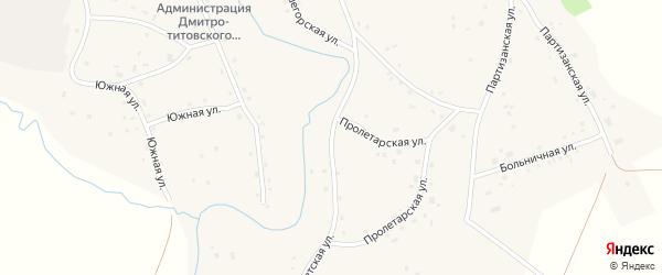 Советская улица на карте села Дмитро-Титово с номерами домов